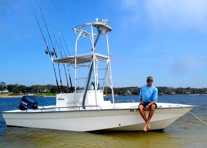 destin florida back bay fishing charters private charters