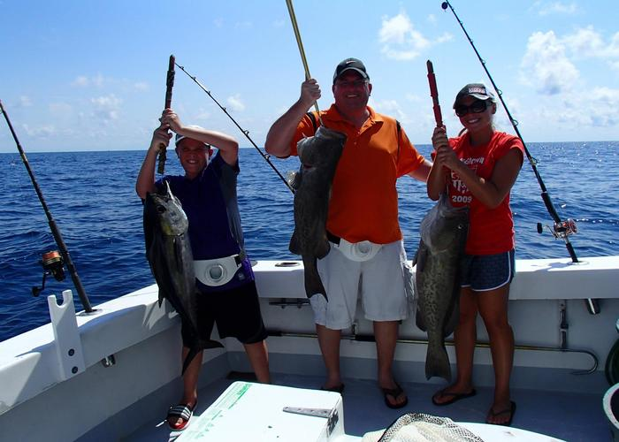 Destin florida family fishing private charter boat fishing for Fishing destin fl